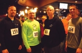 the Collision and Glass running team, from left, Bryce Urness's friend John Rader, Troy Fyre, Bob Langlie and Urness.