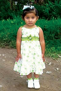 Yamilet, 4, is sponsored by Justin Rosckes, a tech at Fiat of Brookdale.