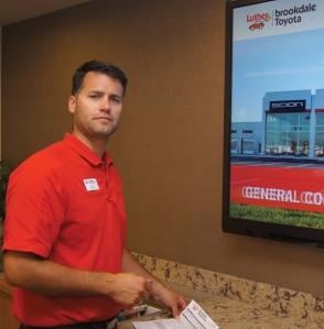 Service advisor Josh Tousignant, Brookdale Toyota & Scion.