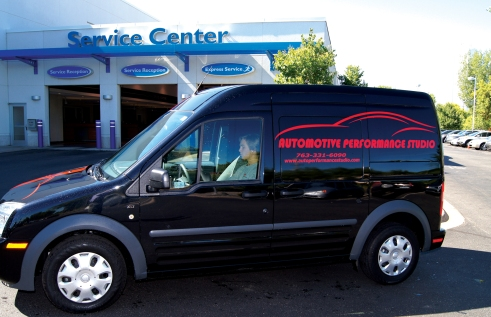 Automotive Performance Studio vans are becoming a more familiar sight at Luther stores in the Twin Cities metro area as mobile services reach out.