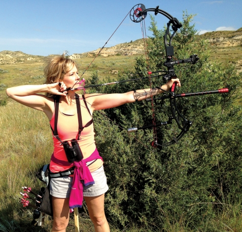 Misty Jeanotte brought home a first place win from the state archery shoot in Medora, N.D.