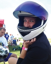 RL Toyota's Genna Rocek suits up for a cart race.