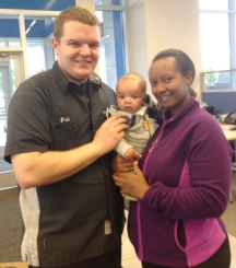 Eric Crear, Brookdale Chevrolet, with his wife, and his son, Leon.