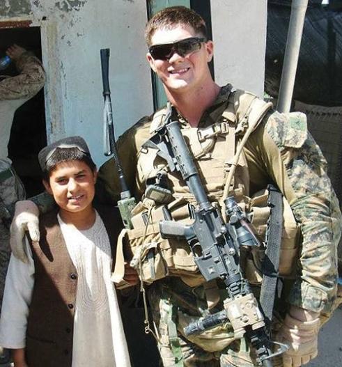 Marine machine gunner Shawn Bradley served in Afghanistan.
