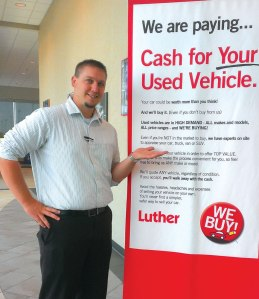 Darin Hendley was the top buyer at Mankato Honda, which won the small store division.