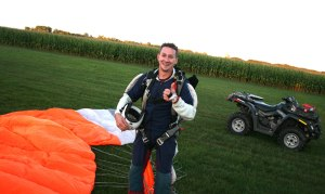 Technician Rich Pankratz organized the event at Skydive Twin Cities.