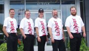 Brookdale Chevrolet skydivers, from left, Rich Pankratz, Bob Jones, Heidi Mannella, Jeremy Erickson and Nick Blattner.