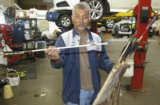 primitive bow hunter crafts weapons for close range luther news
