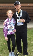 Service advisor Kevin Lindgren and his daughter, Alexis, joined nine other Luther runners, including Controller Shawn Preabt, who raised $3,000 for the Juvenile Diabetes Research Foundation.