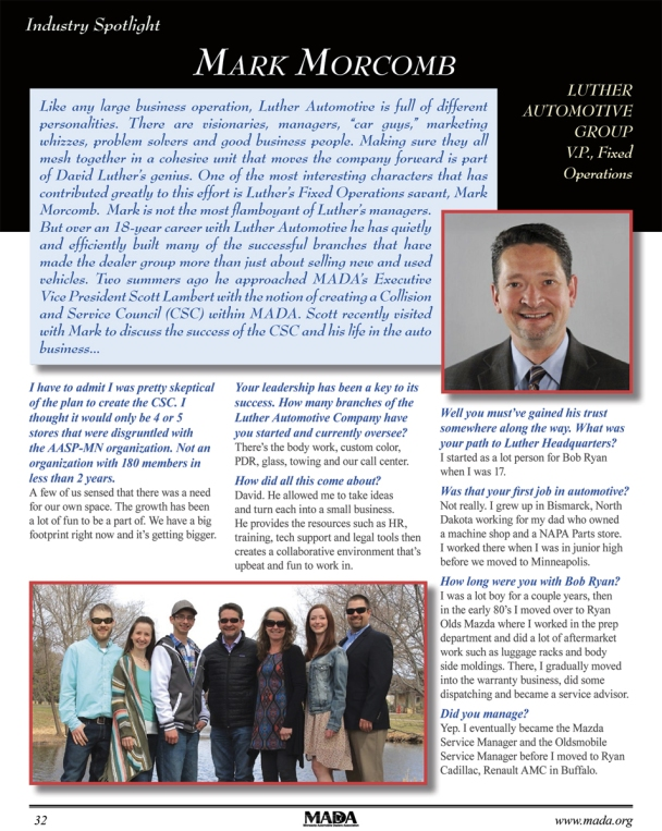 Mark Morcomb featured in MADA magazine