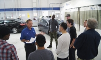 Dunwoody visits Luther Collision & Glass