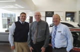 Nate Klitzke, Craig Lammers and Dave Mrozek in sales function inside the heart of the new store's beauty.