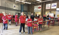 Nitro X camp members learned about the world of autmotive maintenance and repair