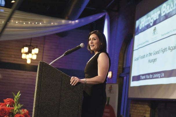 KARE 11 personality Rena Sargianopoulos emceed the Hunger Bash